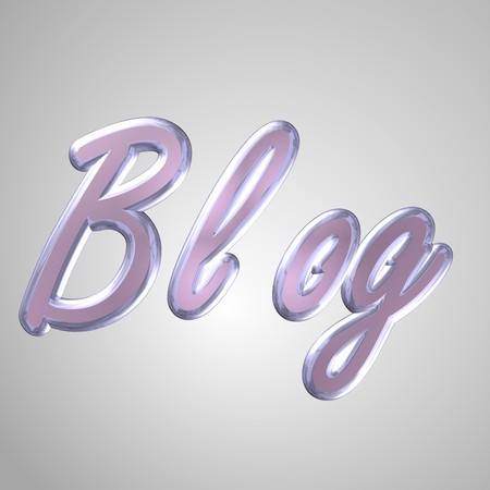 socially: 3d text for business and website design. With central word BLOG
