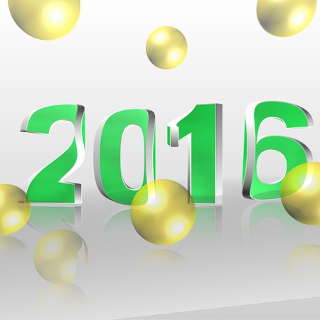 turn of the year: 3d text for business and website design. With central word 2016