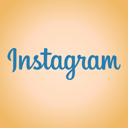 instagram: Text Instagram logo isolated on a pleasant background