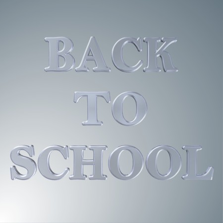 3d text for business and website design. With central word Back to school 스톡 사진