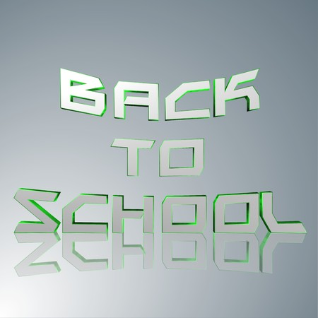 3d text for business and website design. With central word Back to school Stock Photo