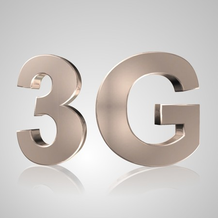 3g: 3d text for business and website design. With central word Mobile network 3G