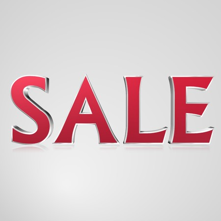 3d text for business and website design. With central word Sale Stock Photo