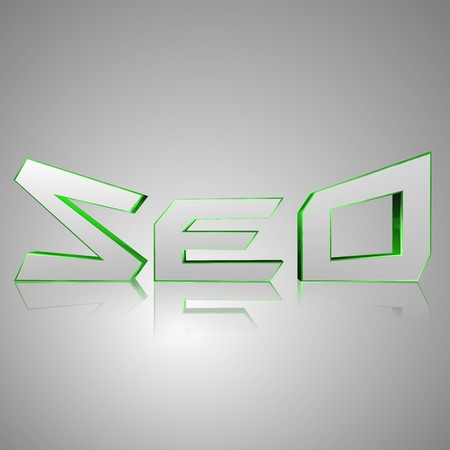 3d text for business and website design. With central word SEO