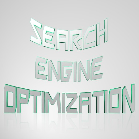 permissions: 3d text for business and website design. With central word Search Engine Optimization