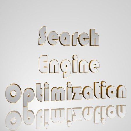 core strategy: 3d text for business and website design. With central word Search Engine Optimization