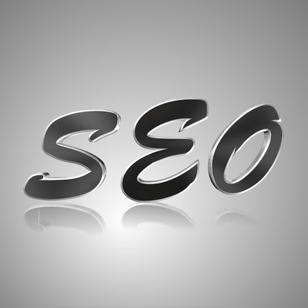 permissions: 3d text for business and website design. With central word SEO