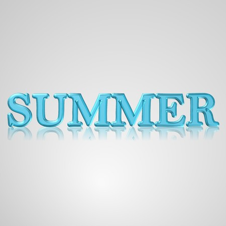 sumer: 3d text for business and website design. With central word summer