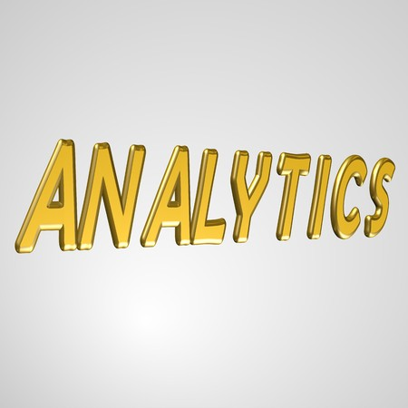 3d text for business and website design. With central word Analytics