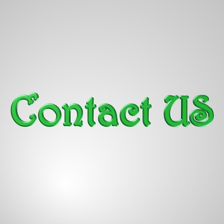 3d text for business and website design. With central word Contact US