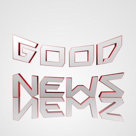 3d text for business and website design. With central word Good News Stock Photo
