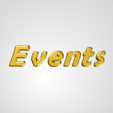 3d text for business and website design. With central word Events Stock Photo