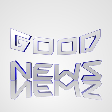 good news: 3d text for business and website design. With central word Good News Stock Photo