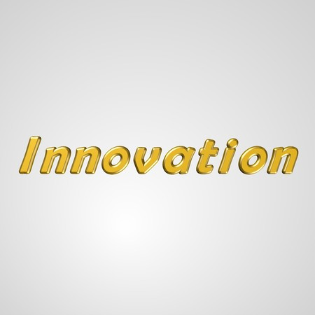 3d text for business and website design. With central word Innovation 스톡 사진