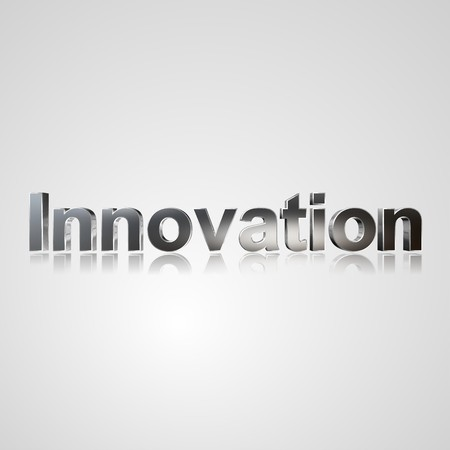 allocated: 3d text for business and website design. With central word Innovation Stock Photo