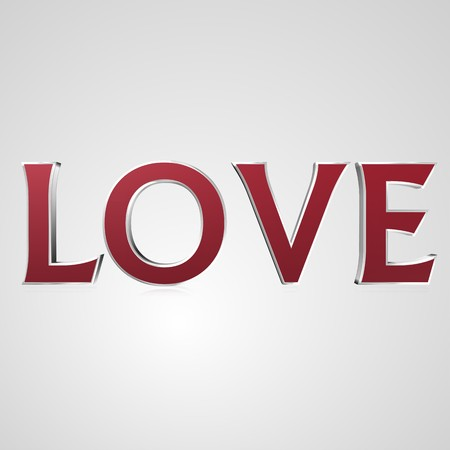 3d text for business and website design. With central word love Stock Photo
