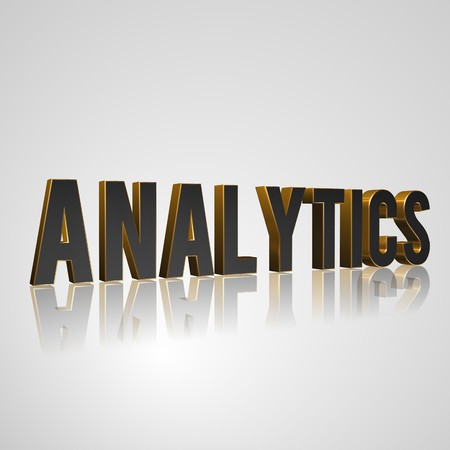 prerequisite: 3d text for business and website design. With central word Analytics