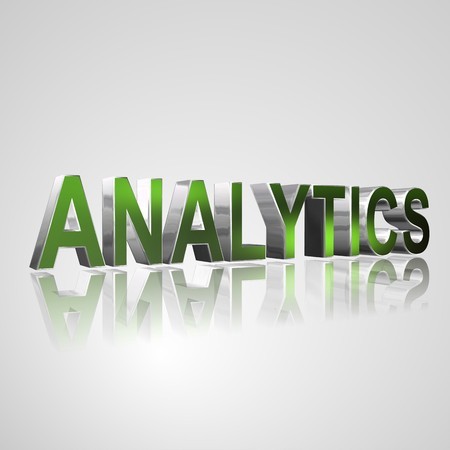 successfully: 3d text for business and website design. With central word Analytics