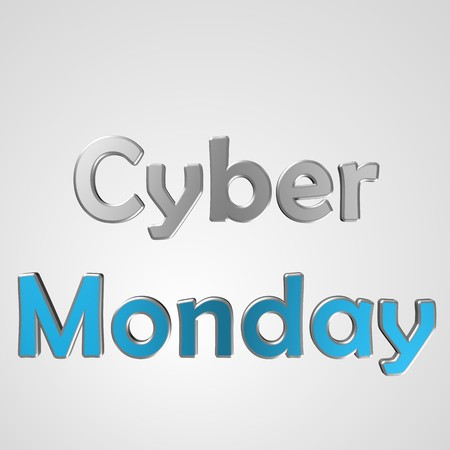 3d text for business and website design. With central word Cyber Monday