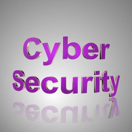 confidentially: 3d text for business and website design. With central word Cyber Security