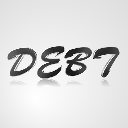 3d text for business and website design. With central word Debt 스톡 사진