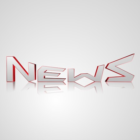 newsprint: 3d text for business and website design. With central word News