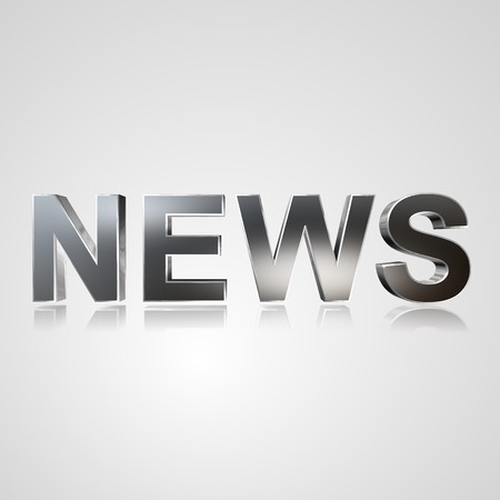 formulate: 3d text for business and website design. With central word News