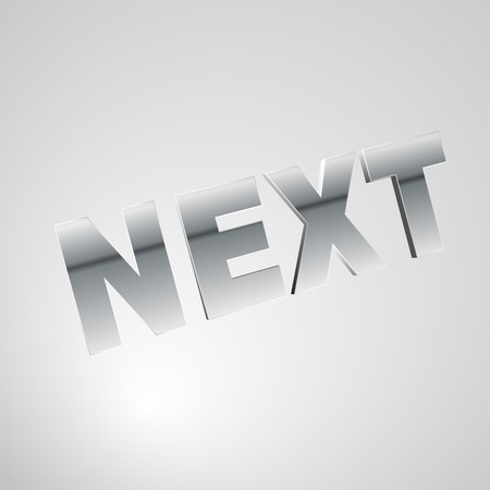3d text for business and website design. With central word NEXT Stock Photo