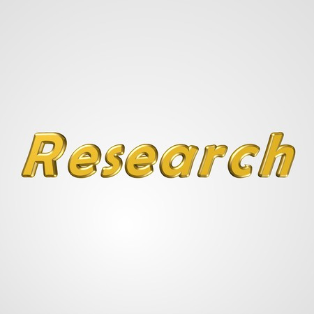 3d text for business and website design. With central word Research