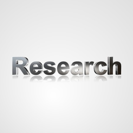 socially: 3d text for business and website design. With central word Research