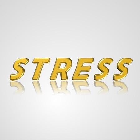 restlessness: 3d text for business and website design. With central word stress