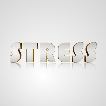 nervousness: 3d text for business and website design. With central word stress