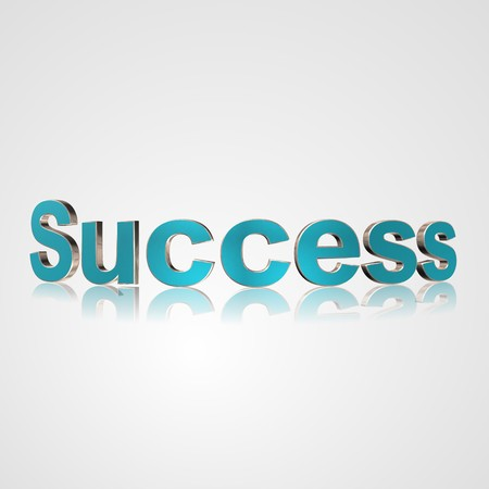 3d text for business and website design. With central word Success