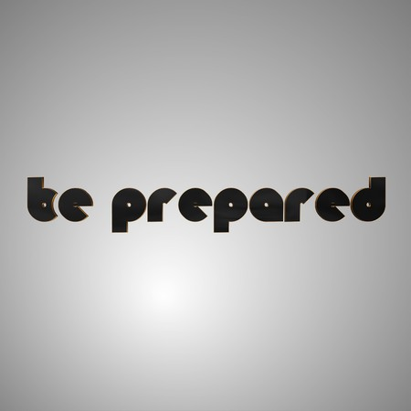 be prepared: 3d text for business and website design. With central word Be prepared Stock Photo