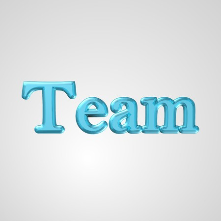 3d text for business and website design. With central word Team