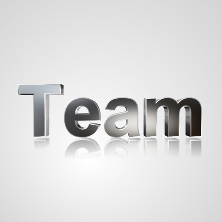 appoint: 3d text for business and website design. With central word Team
