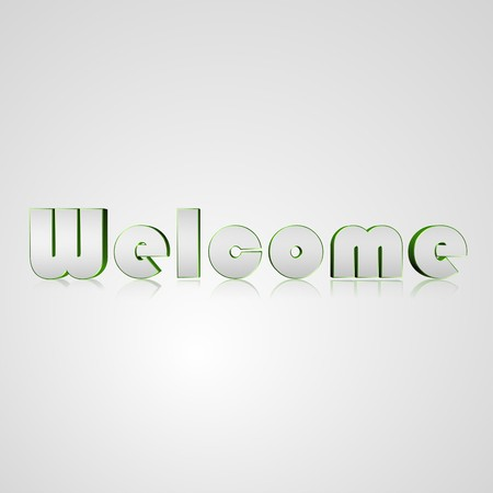 client meeting: 3d text for business and website design. With central word Welcome Stock Photo