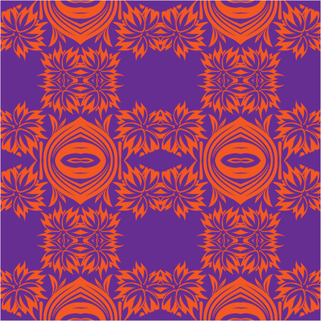 Damask seamless vector pattern. For easy making seamless pattern just drag all group into swatches bar and use it for filling any contours.