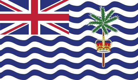 indian ocean: British Indian Ocean Territory flag vector illustration. created EPS 10