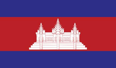 diminishing perspective: Cambodia flag vector illustration.