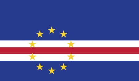 independent: Cape Verde.vector flag of the independent state