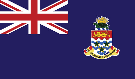 flagging: Cayman Islands flag vector illustration.