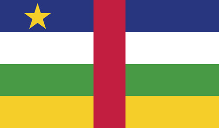 recognized: Central African Republic.vector flag of the independent state