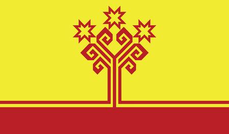 flagging: Chuvashia flag vector illustration.