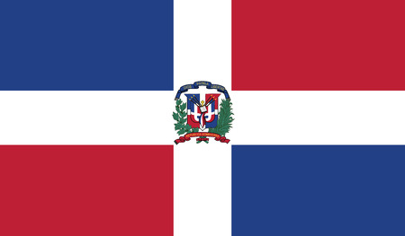 Dominican Republic flag vector illustration.