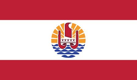 flagging: French Polynesia flag vector illustration.