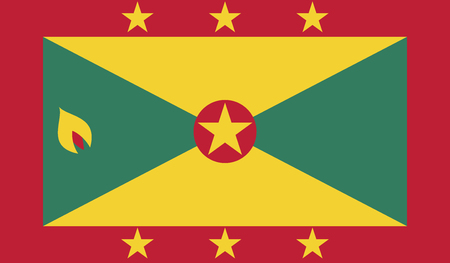 recognized: Grenada.vector flag of the independent state Illustration