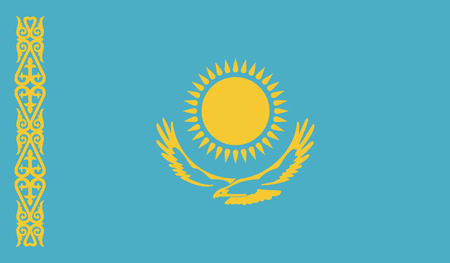 independent: Kazakhstan.vector flag of the independent state
