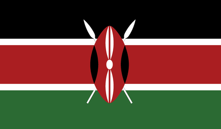 independent: Kenya.vector flag of the independent state