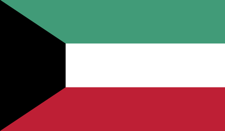 recognized: Kuwait.vector flag of the independent state